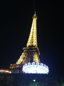 Eiffel Tower at midnight